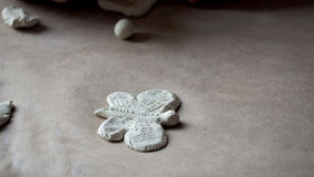 Farfalla da argilla Fotografie Stock Libere da Diritti