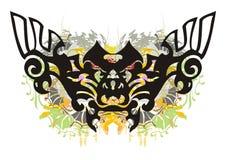 Farfalla decorata di lerciume Fotografia Stock