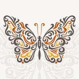 Farfalla astratta Immagini Stock