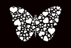 Farfalla dei cuori Fotografie Stock