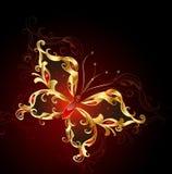 Farfalla dei monili dell'oro Immagini Stock Libere da Diritti
