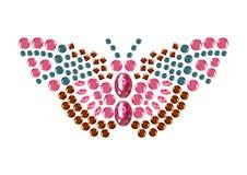 Farfalla del diamante, vettore isolato animale dei gioielli Immagini Stock