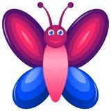 Farfalla del fumetto Immagine Stock
