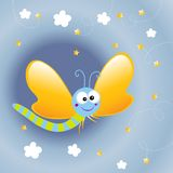 Farfalla del fumetto Fotografia Stock Libera da Diritti