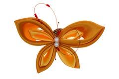 Farfalla del giocattolo fatta dei nastri Immagine Stock