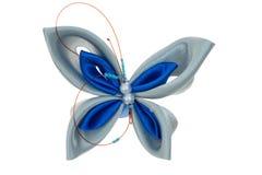 Farfalla del giocattolo fatta dei nastri Fotografia Stock Libera da Diritti