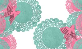 Farfalla del parfait del Doily illustrazione di stock