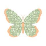 Farfalla del ricamo progettazione della decorazione per abbigliamento Immagini Stock