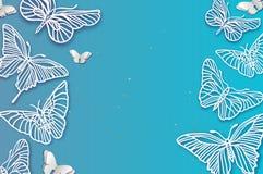 Farfalla del taglio della carta Insetto di origami filigree Fotografie Stock Libere da Diritti