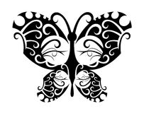 Farfalla del tatuaggio Fotografie Stock