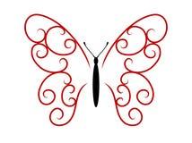 Farfalla del tatuaggio Immagine Stock