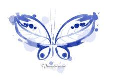 Farfalla dell'acquerello Immagine Stock
