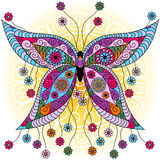 Farfalla dell'annata della molla di fantasia Fotografie Stock Libere da Diritti