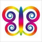 Farfalla dell'arcobaleno Fotografie Stock