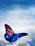 Farfalla della bandiera dell'Australia Fotografia Stock Libera da Diritti