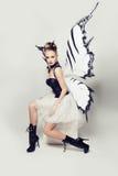 farfalla della donna fotografie stock libere da diritti