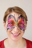 Farfalla della pittura del fronte Fotografie Stock