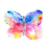 Farfalla della pittura Farfalla dell'acquerello Immagini Stock Libere da Diritti