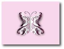 Farfalla di carta del ritaglio Fotografie Stock Libere da Diritti