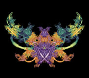 Farfalla di frattalo immagini stock libere da diritti