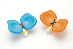 Farfalla di legno del giocattolo Fotografie Stock Libere da Diritti