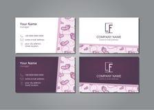 Farfalla di rosa della carta di visita di vettore royalty illustrazione gratis