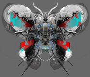 Farfalla di Techno. Immagine Stock