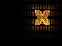 Farfalla dorata illustrazione di stock