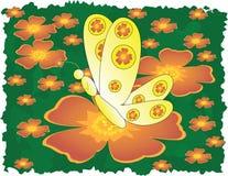 Farfalla e fiori royalty illustrazione gratis