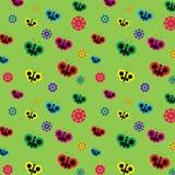 Farfalla e fiori che stampano progettazione fotografia stock libera da diritti