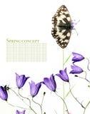 Farfalla e flora Fotografia Stock Libera da Diritti