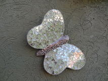 Farfalla fatta a mano verde Mariposa Artesanal Verde Immagine Stock