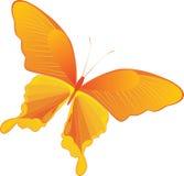 Farfalla gialla decorativa Fotografia Stock Libera da Diritti