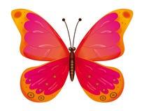 Farfalla isolata. EPS10 Immagine Stock Libera da Diritti