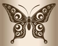Farfalla monocromatica illustrazione vettoriale
