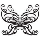 Farfalla ornamentale di vettore Fotografia Stock