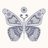 Farfalla per la pagina di coloritura Fotografie Stock Libere da Diritti