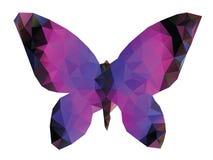 Farfalla poligonale Fotografie Stock Libere da Diritti