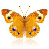 Farfalla poligonale su fondo bianco Fotografie Stock