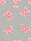 Farfalla-ragazze - reticolo senza giunte Immagini Stock Libere da Diritti