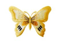Farfalla ricamata Fotografie Stock