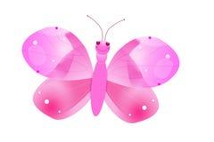 Farfalla rosa Fotografie Stock Libere da Diritti