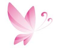 Farfalla rosa Immagine Stock