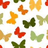 Farfalla senza cuciture colorata del modello Immagine Stock Libera da Diritti