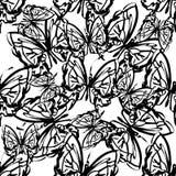 Farfalla senza cuciture del modello Fotografia Stock