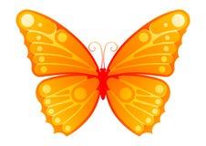 Farfalla stilizzata Fotografia Stock Libera da Diritti