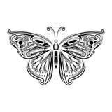 Farfalla stilizzata della mosca Concetto creativo della Boemia per gli inviti di nozze, carte, biglietti, congratulazioni, marcan Immagini Stock