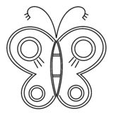 Farfalla stupefacente della mosca Vettore Concetto creativo della Boemia per gli inviti di nozze, carte, biglietti, congratulazio royalty illustrazione gratis