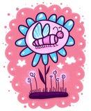 Farfalla su un grande fiore Immagini Stock