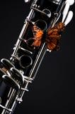 Farfalla sul nero Bk del Clarinet Fotografia Stock